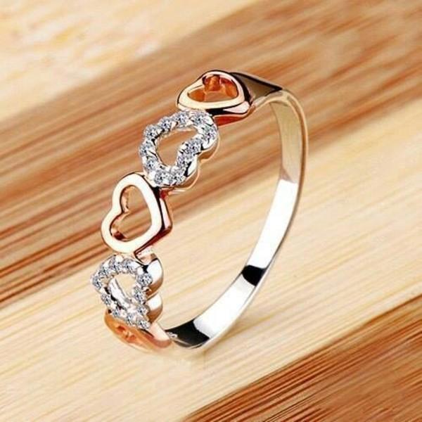 jewels ring heart diamonds