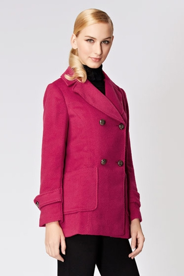 Neat Style Double Breasted Coat [FEBK0466]- US$ 62.99 - PersunMall.com