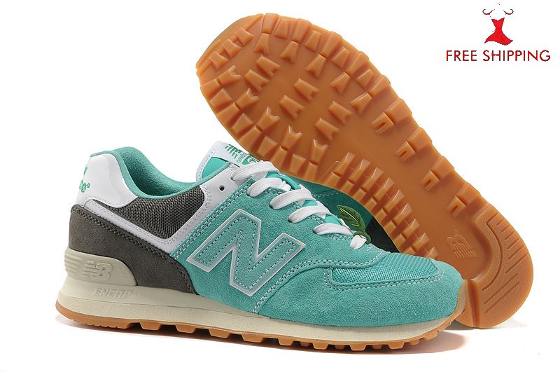 New Balance 574 Classic Running Shoes Fashion Sneakers Unisex Turquoise