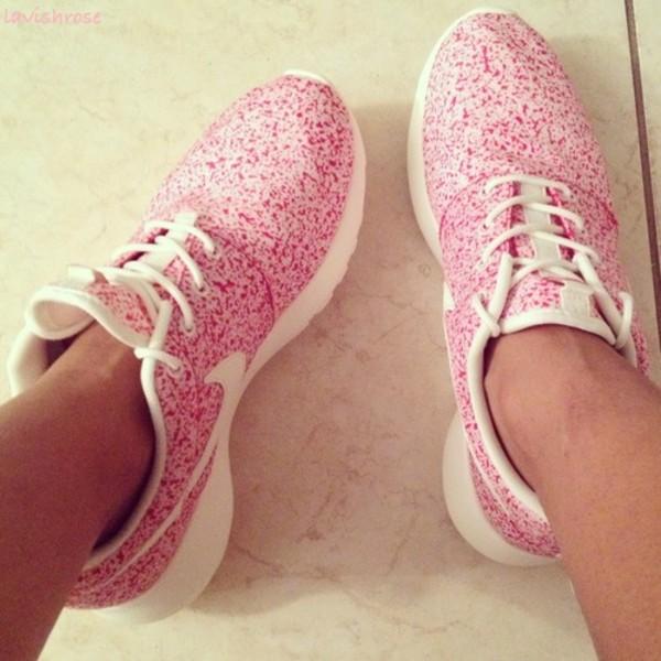 shoes nike pink flowers nike sneakers nikes