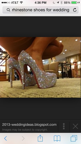 shoes rhinestones siliver