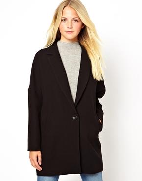 New Look | New Look Textured Boyfriend Coat at ASOS