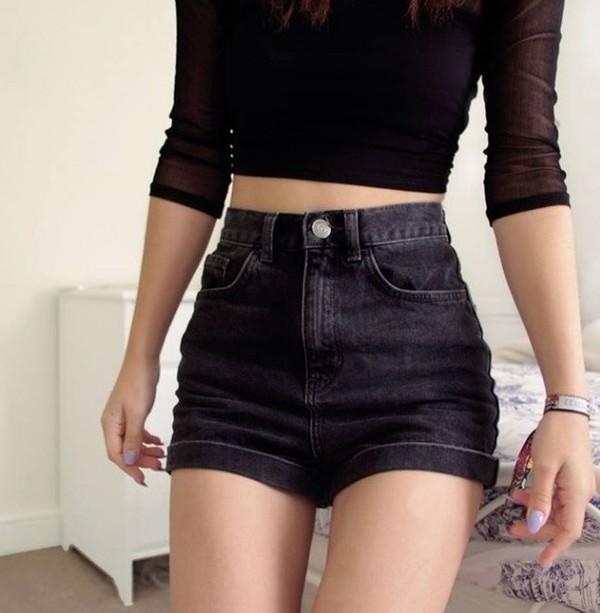 shorts black jacket blouse