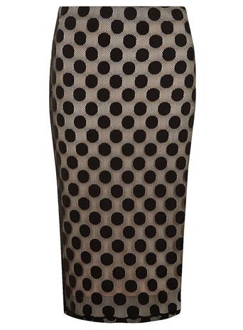 Black and Blush Spot Lace Tube - Skirts  - Clothing  - Dorothy Perkins