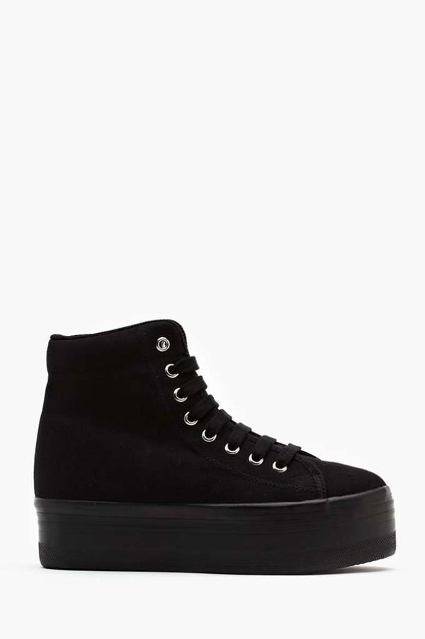 shoes homg jeffrey campbell sneakers black high top sneakers