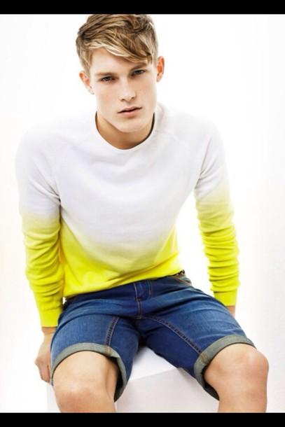 shirt yellow style long shirt long sleeves