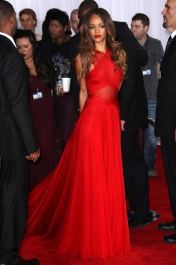 dress red rihanna prom dress red dress long dress