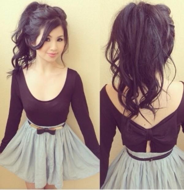 skirt sweater belt t-shirt