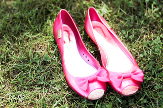 shoes flat bows pink shoes