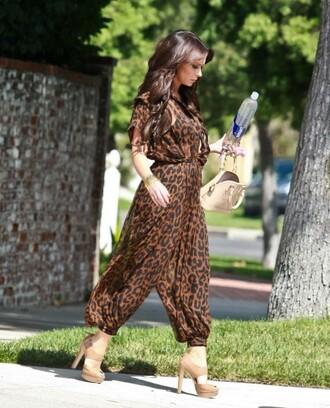 jennifer love hewitt leopard print jumpsuit