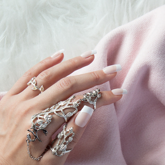 jewels ring armour double finger ring double ring hand jewelry finger rings knuckle ring jewelry ring silver ring statement ring two finger ring statement silver bling