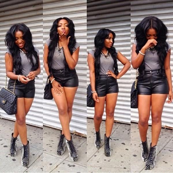 shorts shorts high waisted leather black