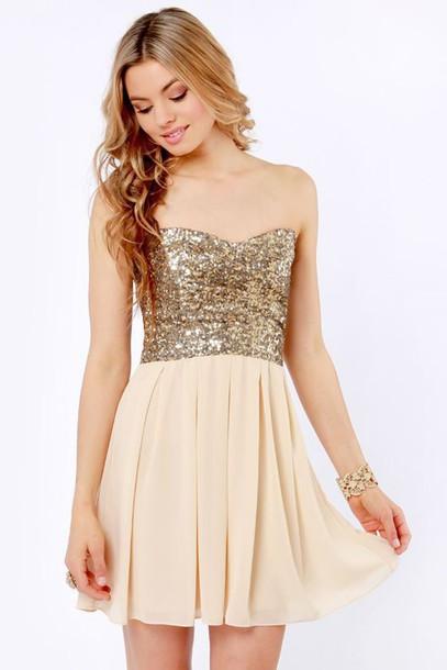 dress sweet 16 homecoming dress gold homecoming short homecoming dress