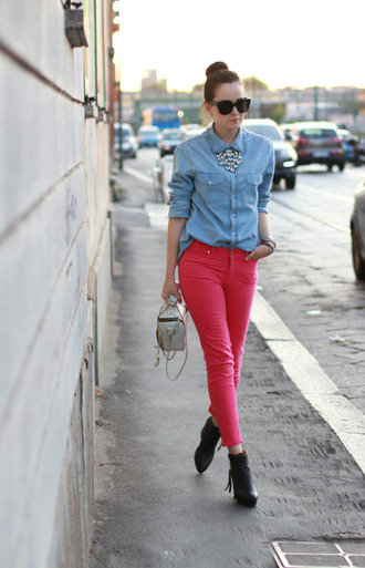 andy style scrapbook pink jeans jeans