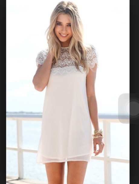 dress short white cocktail dress