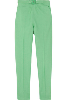 Diane von Furstenberg Georgialy cropped stretch-twill tapered pants - 55% Off Now at THE OUTNET