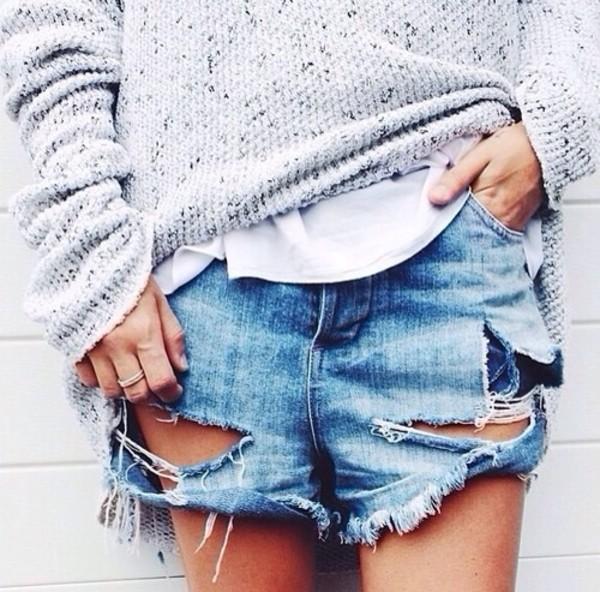 shorts denim shorts jeans shorts #summer #cool #want jeans shorts skin zerissen pulli wei? weiss sweater knitted sweater ripped shorts coat sexy dress boyfriend jeans hot pants