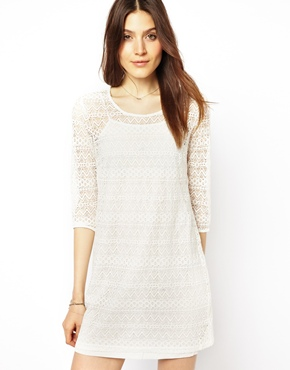 Vero Moda | Vero Moda 3/4 Sleeve Lace Dress at ASOS