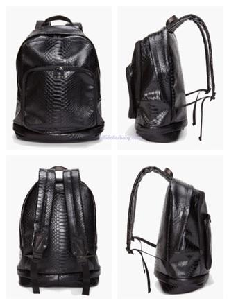 bag backpack leather backpack python marc by marc jacobs marc jacobs black women black bag mens bag open back