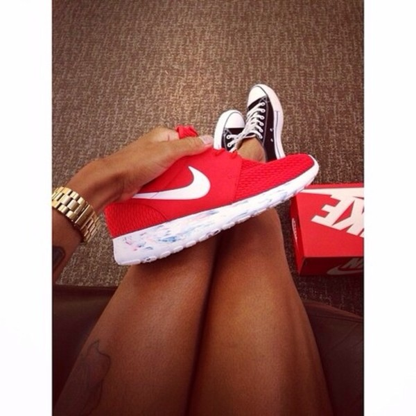 shoes nike nike running shoes converse all red red nike roche red and white red nike sneakers nike roshe run running shoes nike sneakers