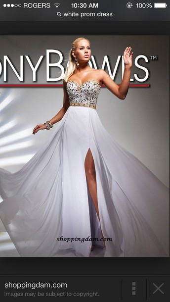 dress white dress tony bowls prom dress