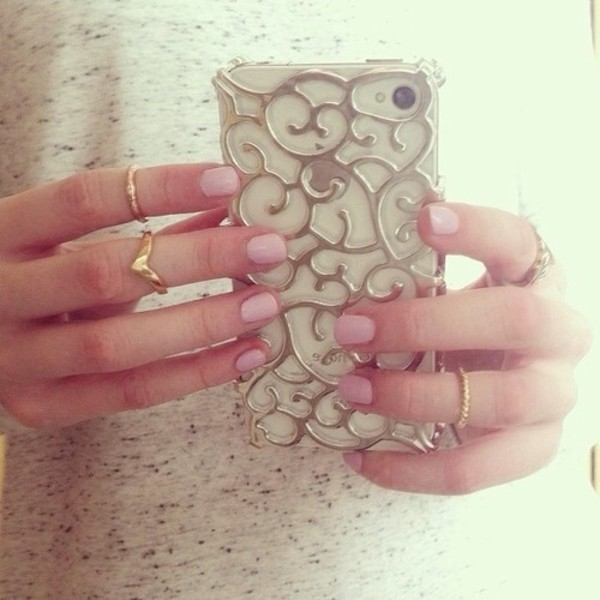 nail polish jewels phone cover gold floral floral girly iphone 5 case iphone 5 case phone cover swirly pretty