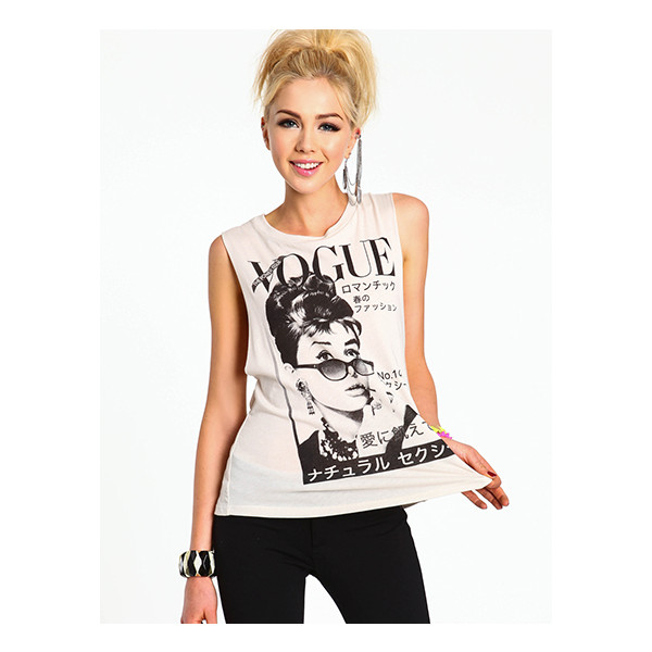 Vogue Graphic Tee - Polyvore