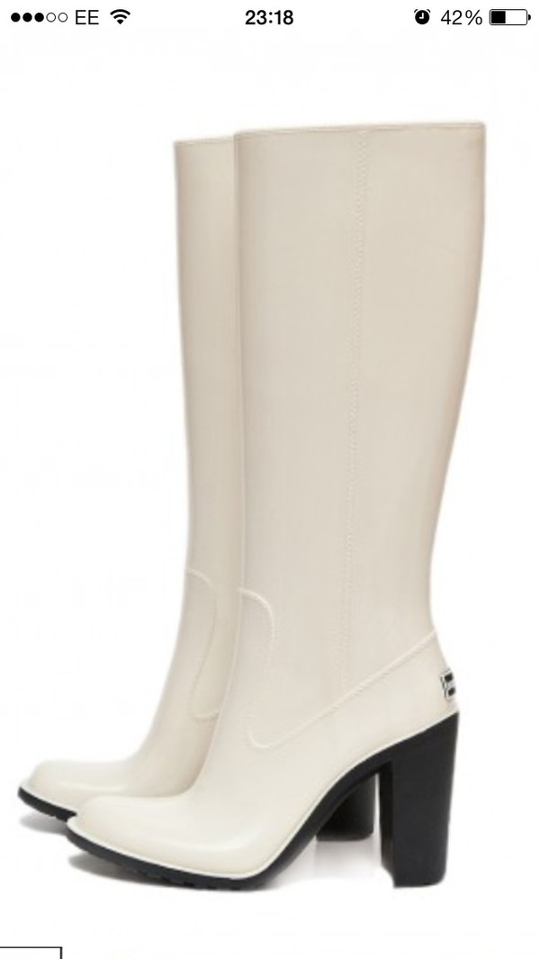 shoes wellies high heels wellies white