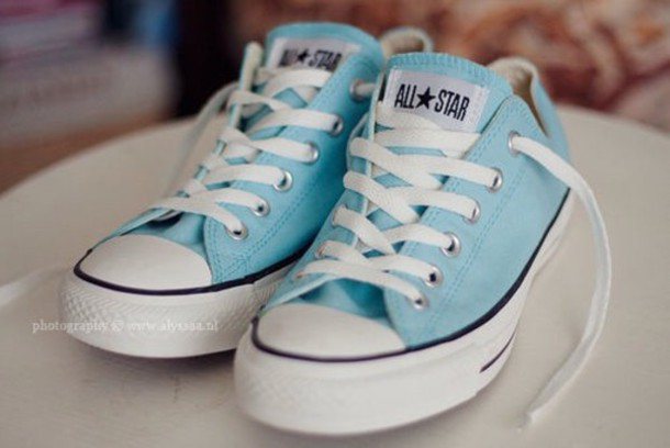 shoes converse baby blue sneakers