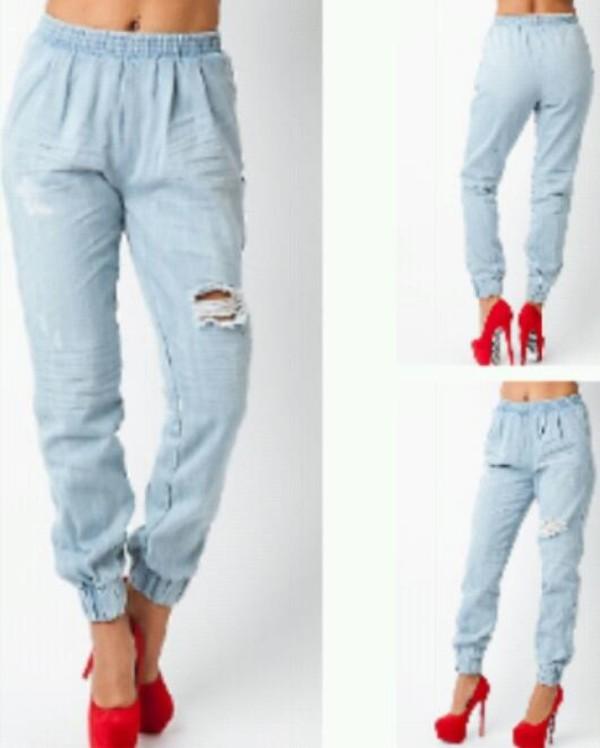 jeans denim joggers vintage chic tumblr denim jogger pizza print