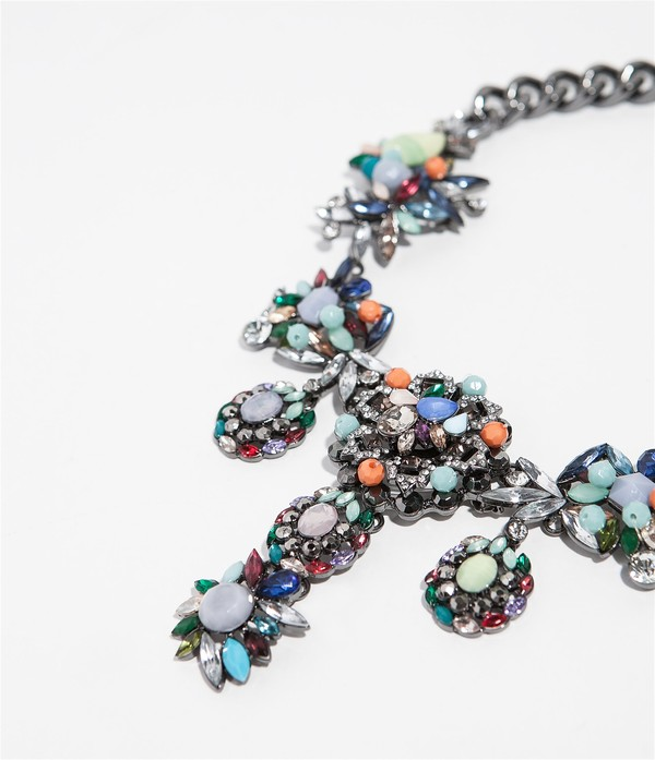 jewels zara aliexpress statement necklace statement necklace rhinestones trendy