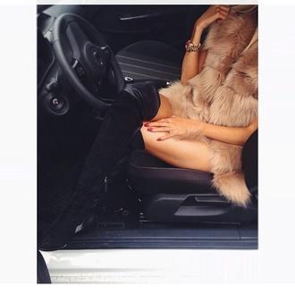 coat fur vest faux fur nude jacket mocha colored mocha winter vest winter outfits vest jacket fur jacket fur coat furry coat gilet belt blouse dress shirt top