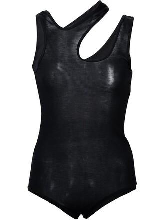 bodysuit women black underwear