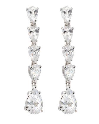 Fantasia Tiny Tiered Pear-Drop Earrings