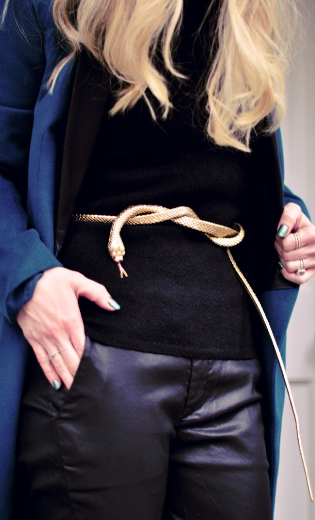 DIY Gold Snake Belt OR Fab Serpent Home Decor Accent | ...love Maegan