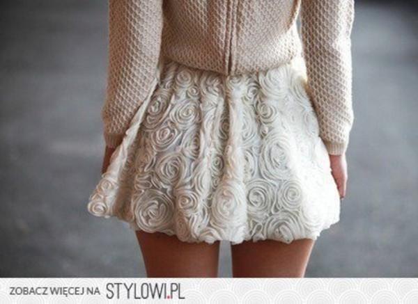 skirt roses white roses white cute dress