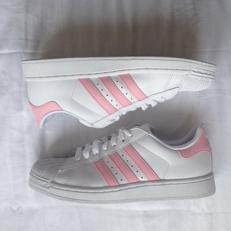 white sneakers pink shoes workout adidas sports shoes adidas shoes pink shoes adidas superstars adidas pink and white pink and white pink and white shoes