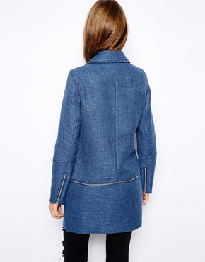 Warehouse | Warehouse Tweed Zip Off Biker at ASOS