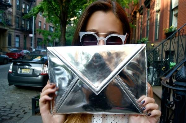 bag silver girl tumblr model sunglasses