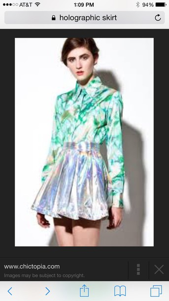 skirt holographic