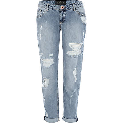 Light wash ripped Cassie boyfriend jeans - jeans - sale - women