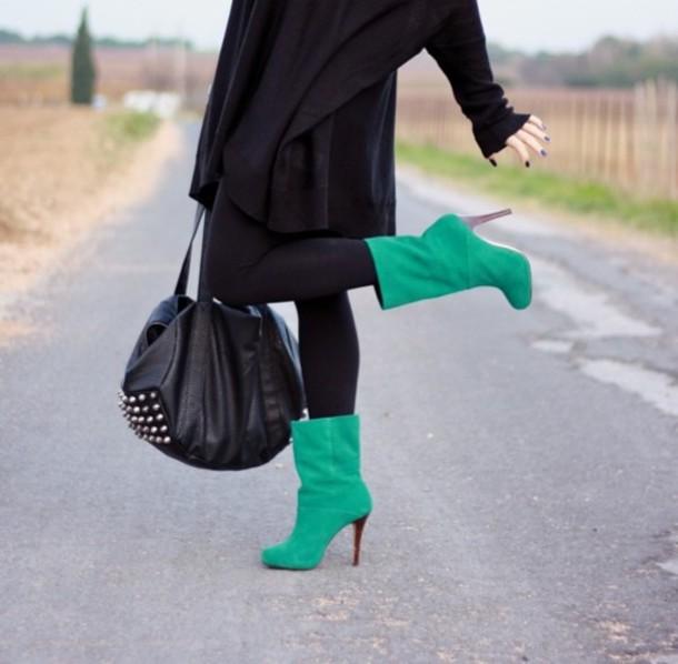bag alexander wang leather black bag studded