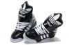 Shop Jeremy Scott X Adidas Big Tongue Shoes - Adidas M Attitude Logo W Sneakers Black White Snaker Leather