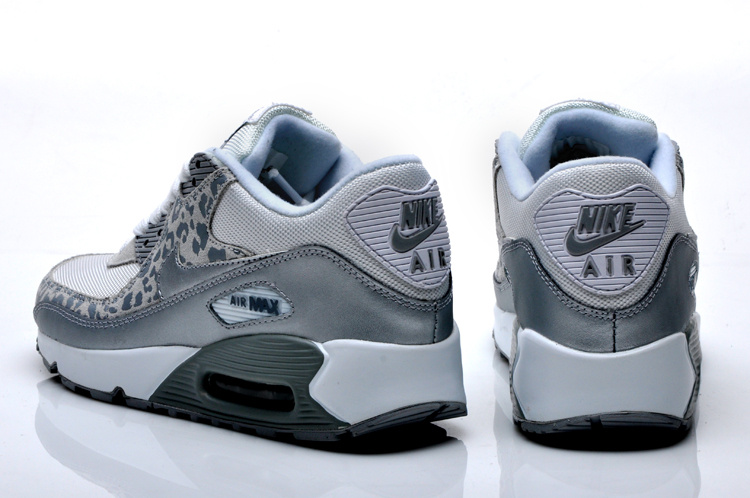 Nike Air Max 90 Womens Leopard Print White Silver for Sale