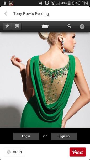 dress green dress prom dress