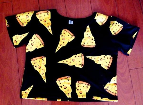 shirt crop tops cute cheese