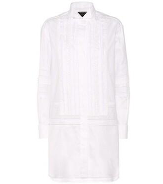 dress shirt dress lace cotton white