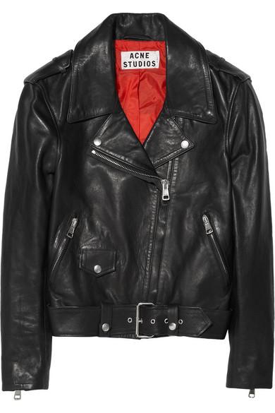 Acne|Mape leather biker jacket|NET-A-PORTER.COM