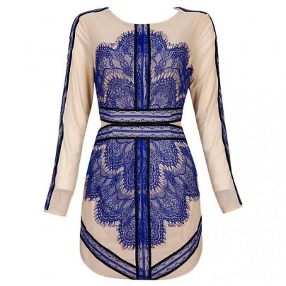 Avery BLUE Lace Dress