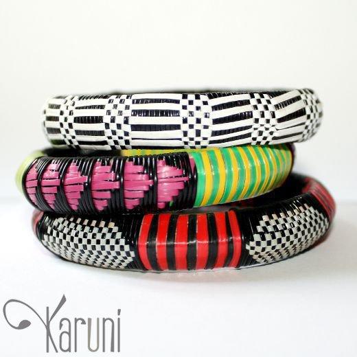 Bijoux Touareg Ethniques Bracelets africains larges 10 (lot de 3) - KARUNI